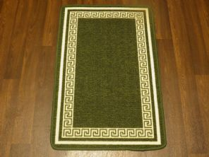 NON SLIP DOORMATS 50X80CM GEL BACKING TOP QUALITY KEY DESIGN ALL COLOURS GREEN